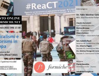 Presentazione del 2° Rapporto sul terrorismo e il radicalismo in Europa #ReaCT2021: il 25 febbraio